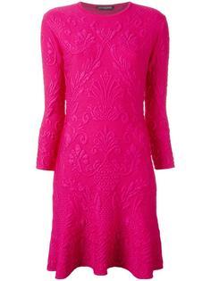 жаккардовое платье мини Alexander McQueen