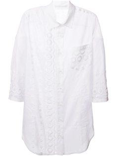 длинная рубашка с вышивкой Ermanno Scervino
