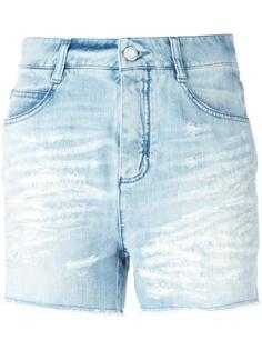 джинсовые шорты с рваными деталями   Ermanno Scervino