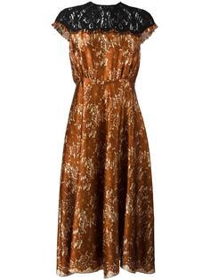 кружевное платье средней длины Maurizio Pecoraro