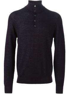 свитер с горловиной на пуговицах Brioni
