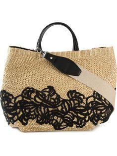тканая сумка-тоут с вышивкой Ermanno Scervino