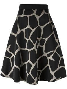 giraffe print skirt Kolor