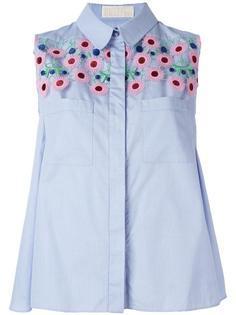 трапециевидная блузка с цветочной вышивкой Peter Pilotto