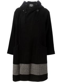 двубортное пальто с капюшоном Zucca