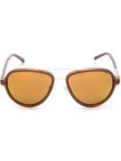 """солнцезащитные очки """"авиаторы"""" с толстой оправой Linda Farrow Gallery"""