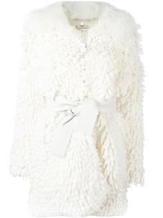 трикотажное пальто с поясом Fendi