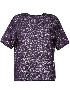 полупрозрачная кружевная блузка  Rochas