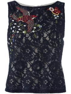 кружевная блузка с вышивкой Alice+Olivia