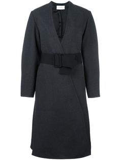belted wrap detail coat Lemaire