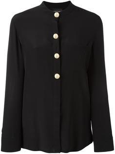 рубашка с объемными пуговицами Emporio Armani
