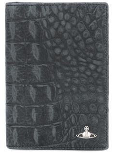 визитница с эффектом крокодиловой кожи Vivienne Westwood