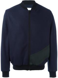 куртка бомбер дизайна колор-блок MSGM