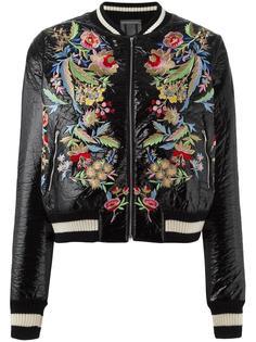 куртка-бомбер с цветочной вышивкой Aviù