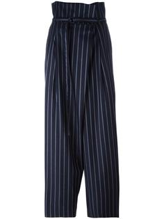 belted loose-fit striped trousers Enföld