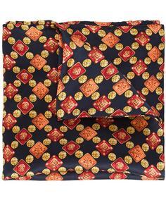 pattern print pocket square Simeone Napoli