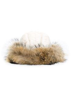 шапка с мехом енота Woolrich