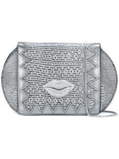 сумка на плечо с элементом губ Just Cavalli