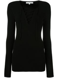 блузка с V-образным вырезом на шнуровке Iro