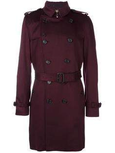 двубортное пальто с поясом Burberry