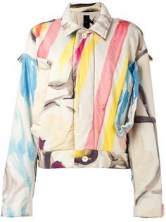 куртка с абстрактным принтом Bernhard Willhelm
