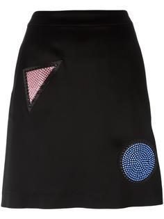 юбка с нашивками Emporio Armani