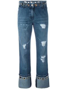 джинсы с потертой отделкой Blumarine