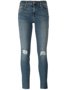 ripped knees skinny jeans Frame Denim