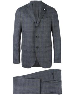 tonal plaid formal suit Lardini