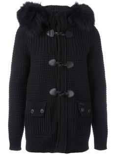 текстурированное пальто с капюшоном Bark