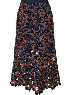cut-off detailing A-line skirt Saloni