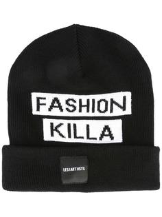 'fashion killa' knit beanie Les (Art)Ists