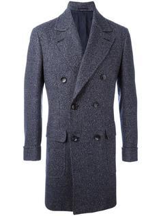 пальто с заостренными лацканами Kiton