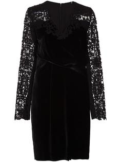 embroidered sleeves dress Elie Tahari
