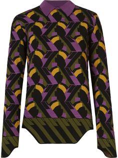 geometric knit blouse Gig