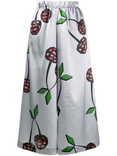cherry print satin culottes Natasha Zinko
