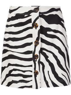 zebra print skirt Adam Lippes