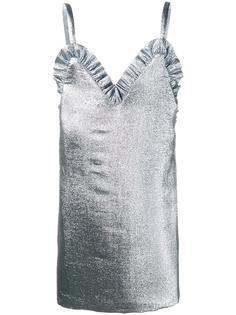 ruffle trim lamé mini dress Jacquemus