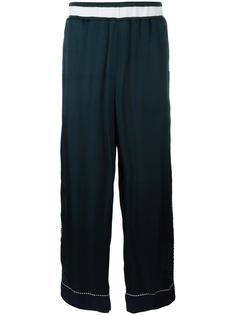 широкие брюки с вышивкой медведя Facetasm