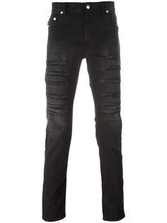 джинсы кроя слим с рваными деталями Love Moschino