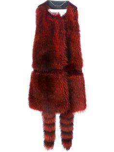 меховоый жилет с открытой спиной  Givenchy