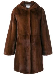 норковое пальто с капюшоном Yves Salomon