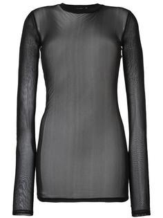 прозрачная блузка с длинными рукавами Blk Dnm
