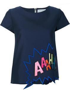 embroidered T-shirt Mira Mikati