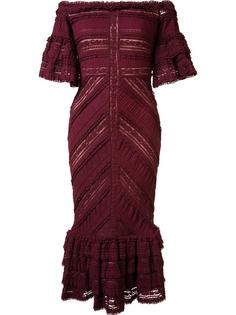 ruffled lace dress Cinq A Sept