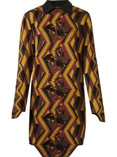 geometric pattern knit dress Gig