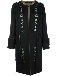 однобортное пальто Maurizio Pecoraro