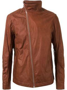 байкерская куртка со смещенной застежкой Rick Owens