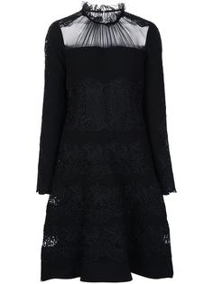 sheer panel dress Elie Tahari