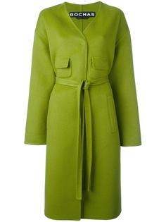 пальто с поясом Rochas